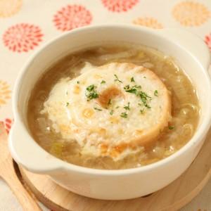長ねぎと麩のオニオングラタンスープ
